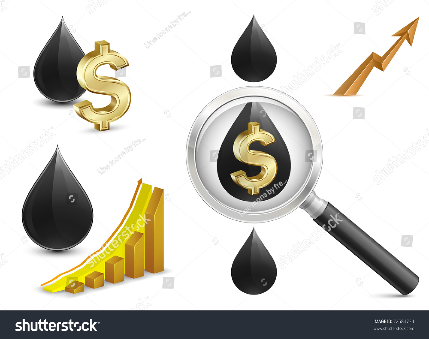 Crude oil price growth chart crude stock vector 72584734 crude oil price growth chart with crude oil and dollar sign on background magnifying biocorpaavc Gallery