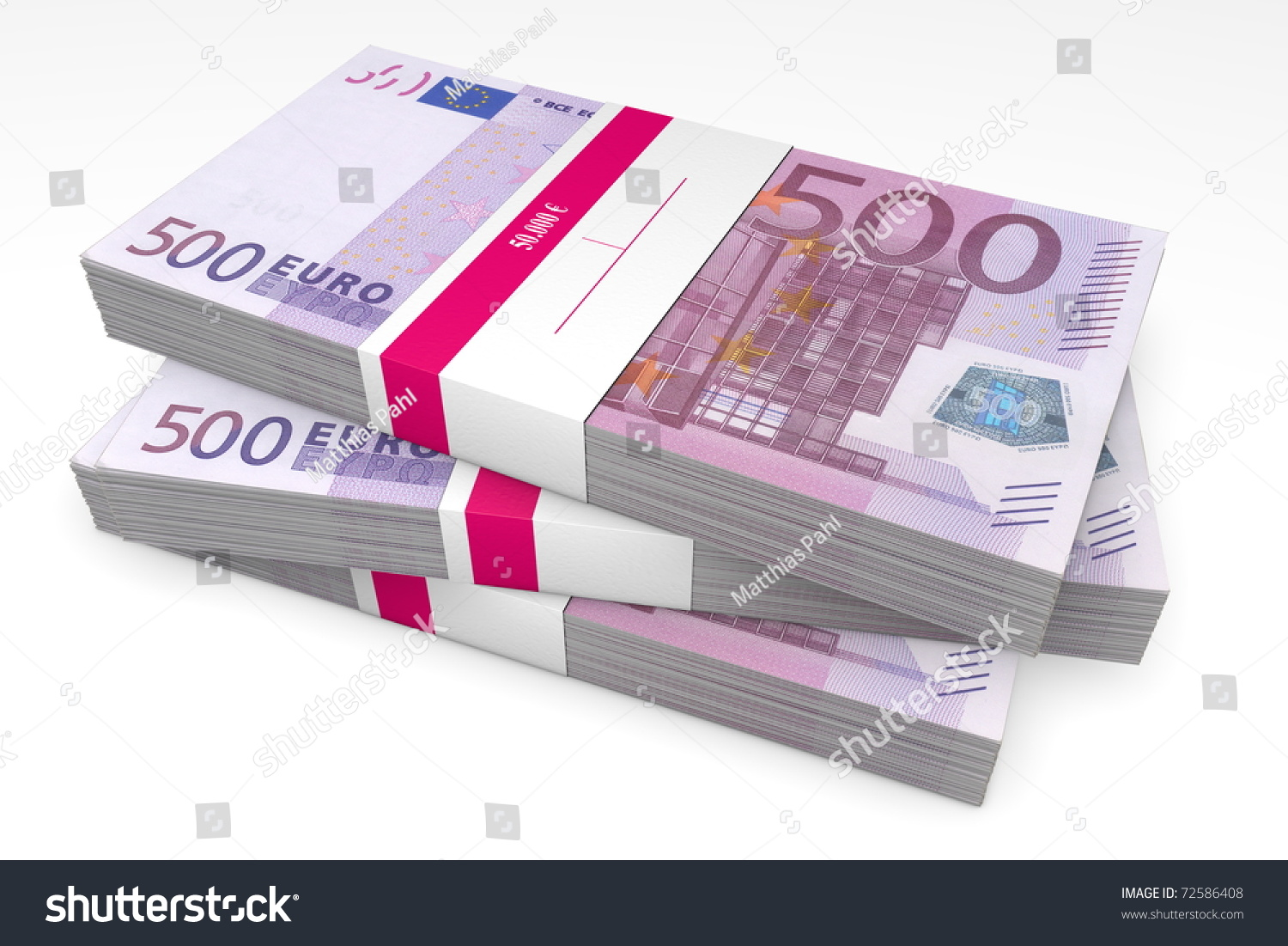 three packet 500 euro notes bank stock illustration 72586408 shutterstock. Black Bedroom Furniture Sets. Home Design Ideas