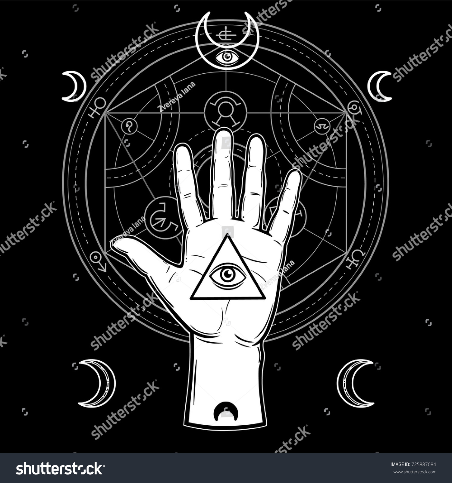Human hand holds sacred pyramid knowledge stock vector 725887084 human hand holds a sacred pyramid of knowledge an all seeing eye symbols biocorpaavc Image collections