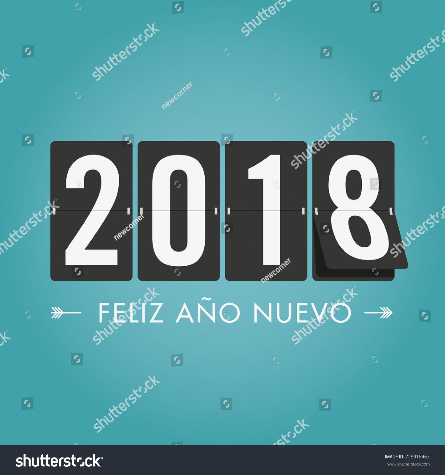 happy new year 2018 mechanical timetable spanish version editable vector design