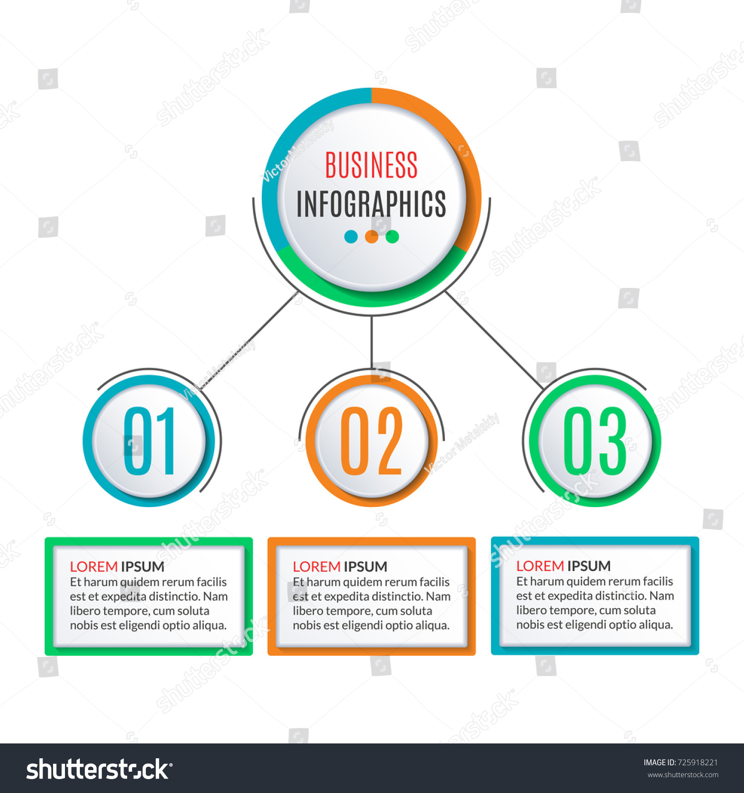 3 Steps Circle Infographics Template Business Stock Vector Royalty Process Flow Diagram Layout Background With Options Levels Data