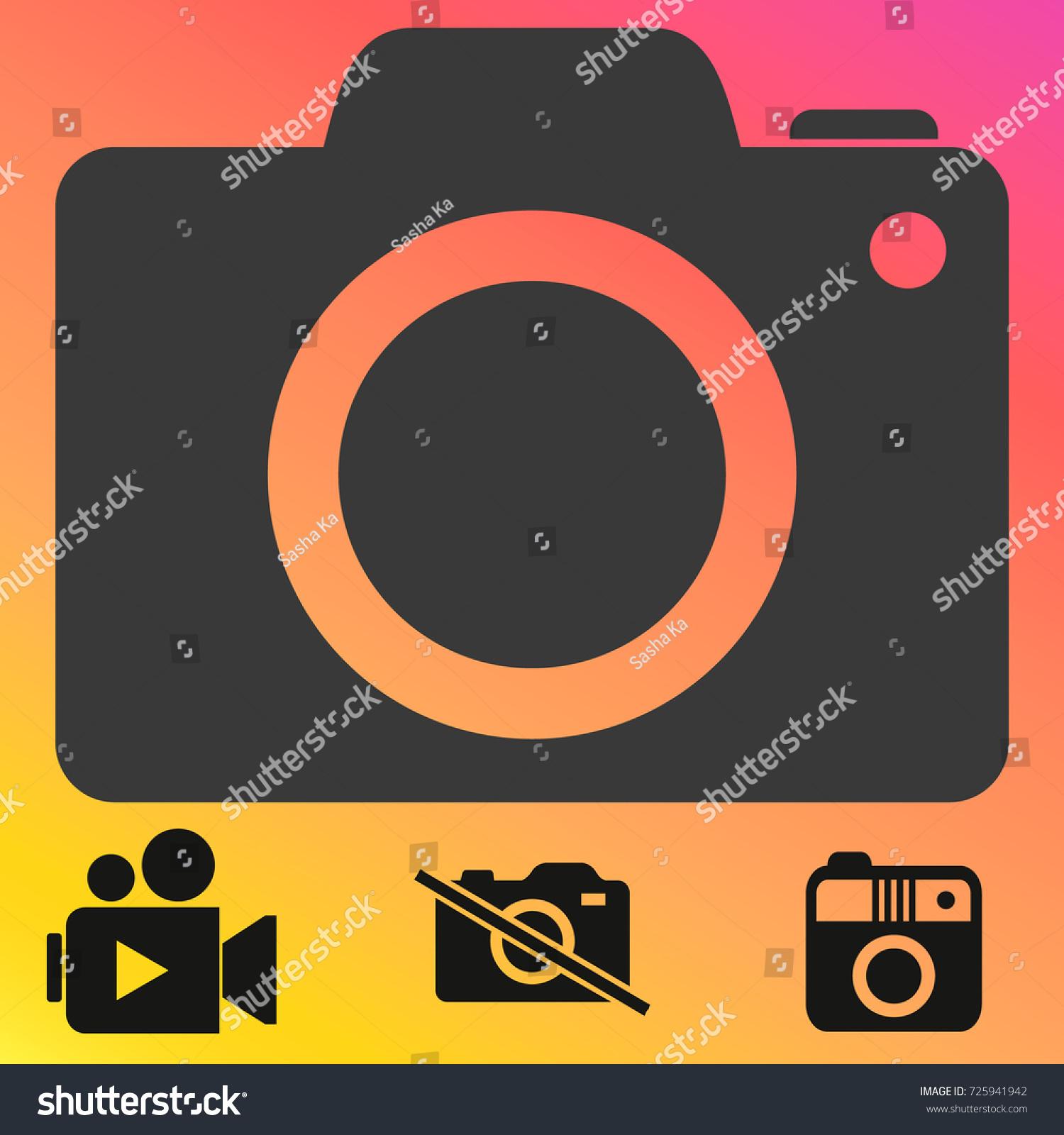 Camera Icon Trendy Flat Style Camera Stock Vector Royalty Free