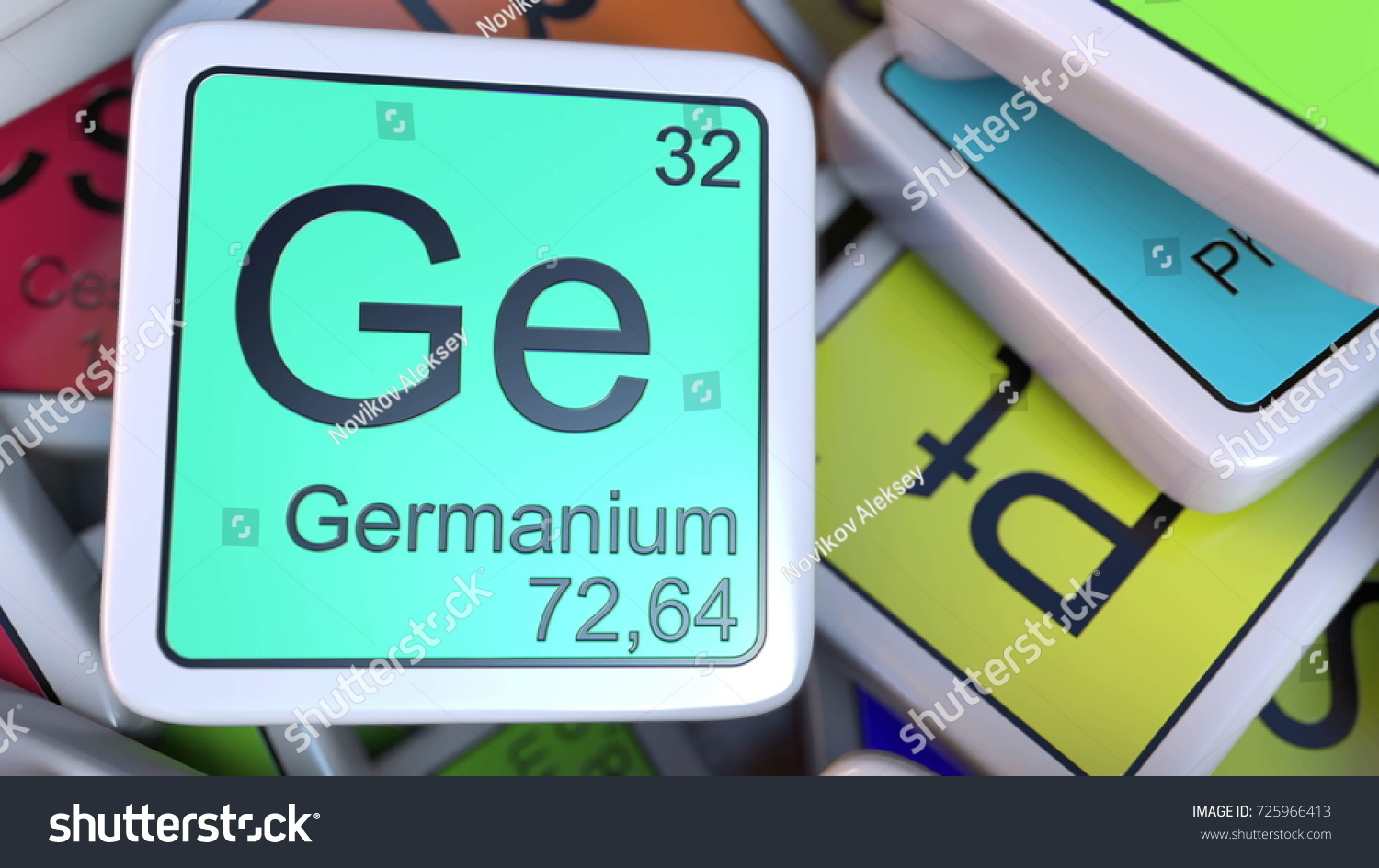 Germanium ge block on pile periodic stock illustration 725966413 germanium ge block on the pile of periodic table of the chemical elements blocks chemistry gamestrikefo Gallery