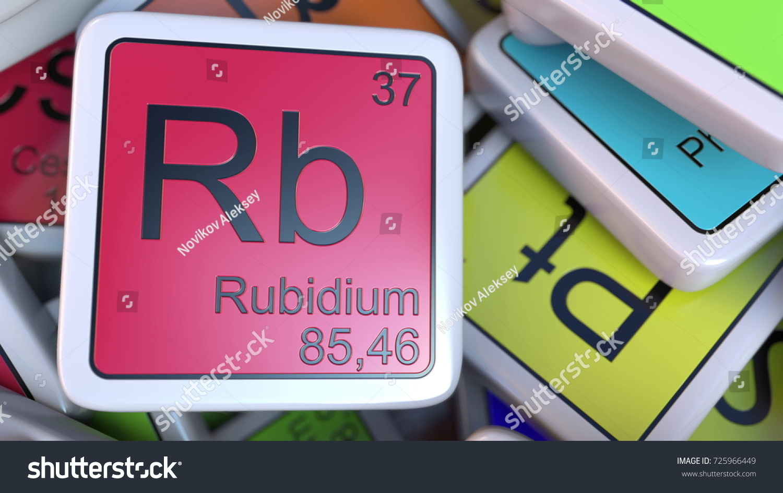 Rubidium rb block on pile periodic stock illustration 725966449 rubidium rb block on the pile of periodic table of the chemical elements blocks chemistry buycottarizona Choice Image
