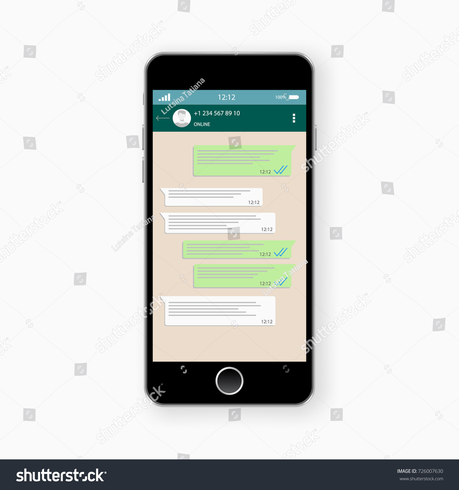 Social network concept blank template chatting stock vector social network concept blank template chatting and messaging sms messages sending vector pronofoot35fo Images
