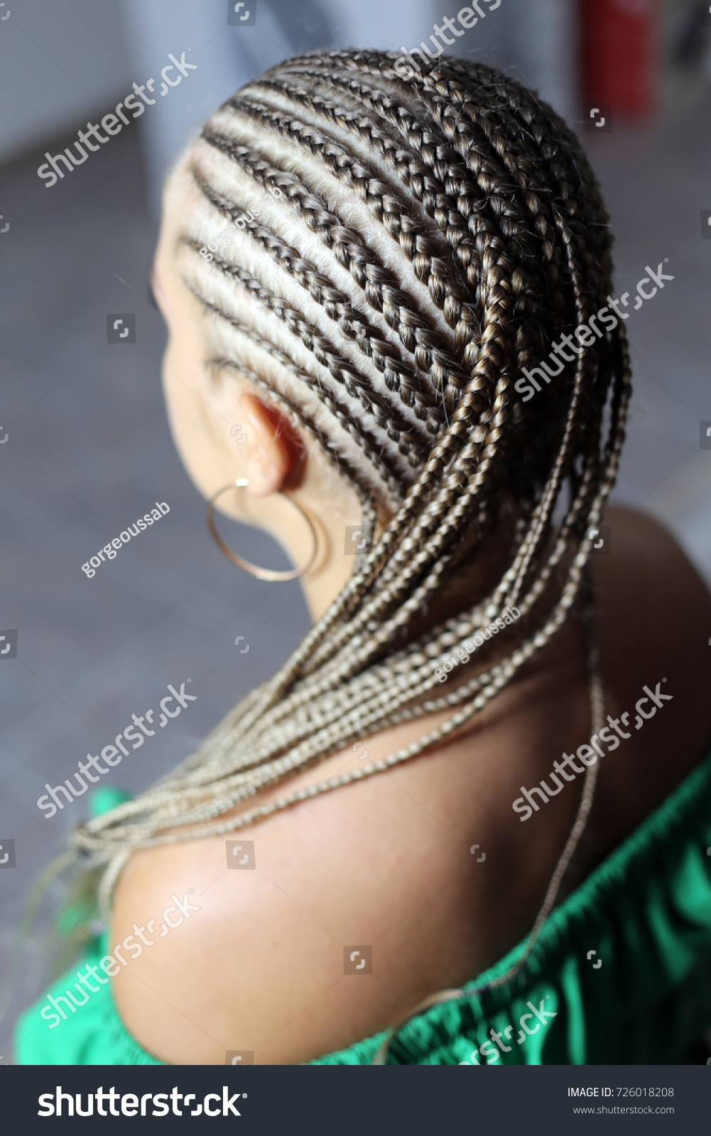 Hairdo Artificial Hair Curly Curls Wavy Stock Photo Royalty Free