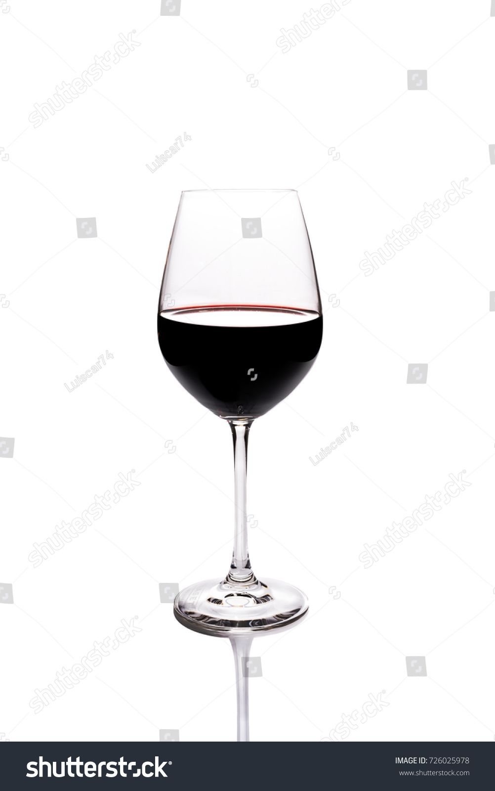 Photography Glass Red Wine On White Editar Agora Foto Stock 726025978