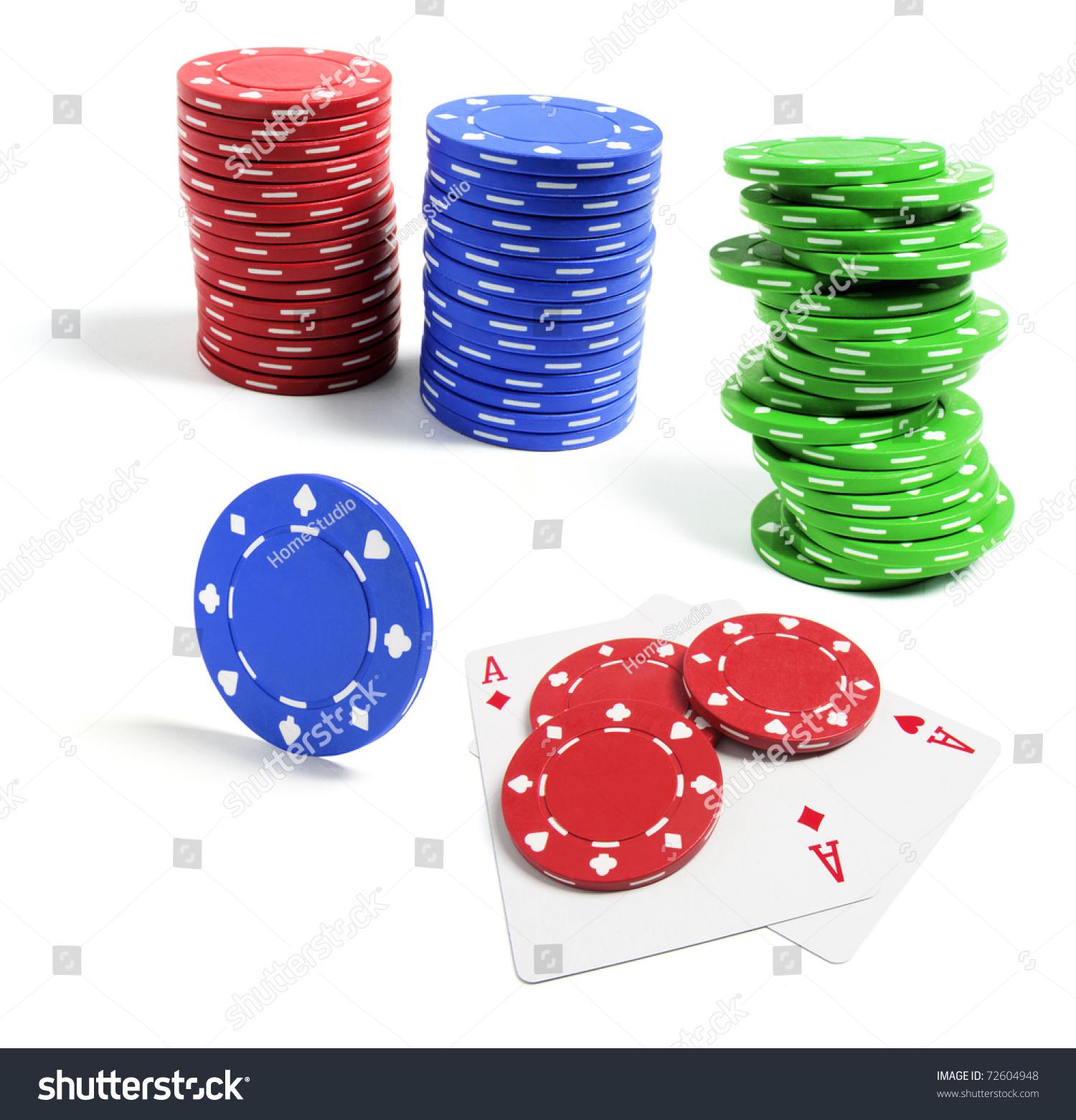 Small denomination poker chips