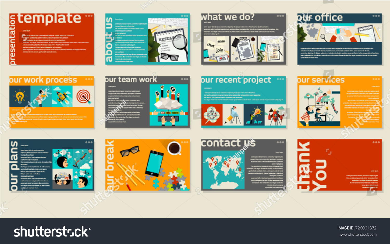 business web presentation trendy template vector stock vector, Presentation templates