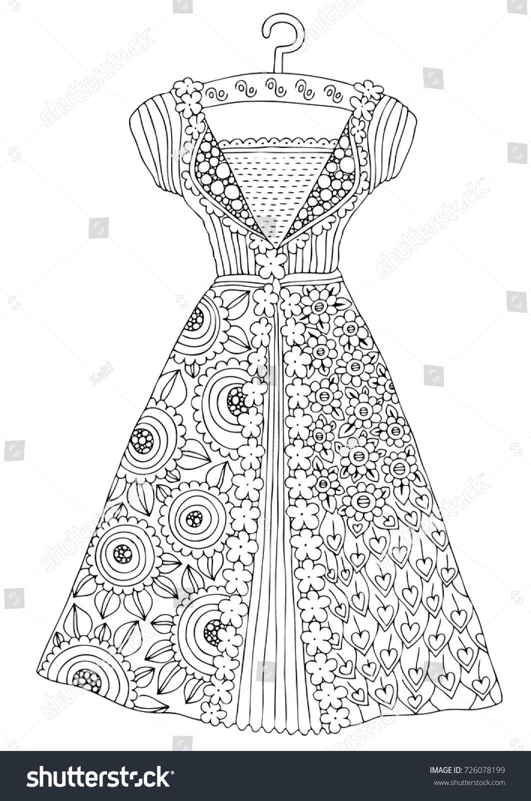 Fashion Design Coloring Pages Eliolera