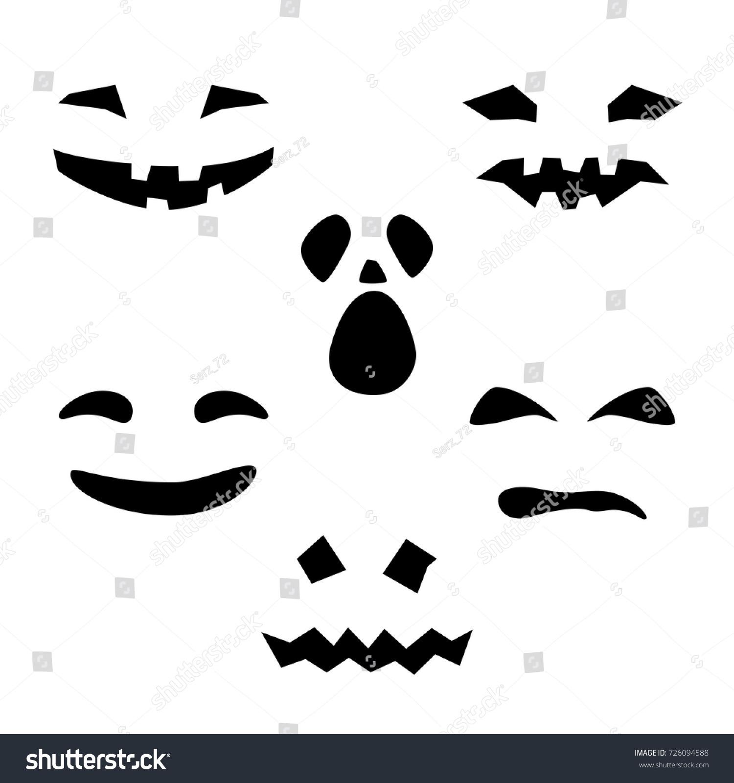 halloween holiday silhouette scary smug smiles stock vector hd