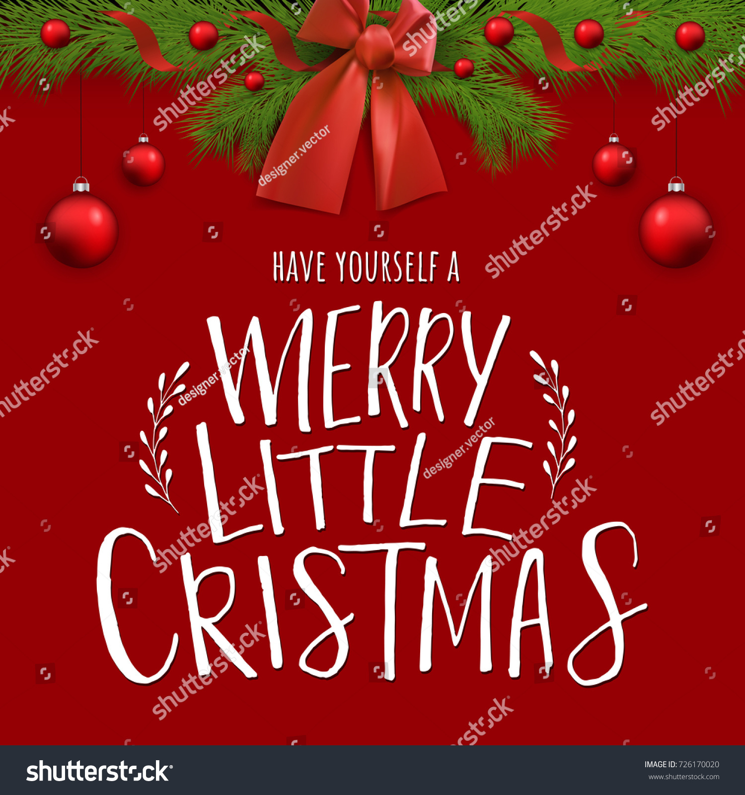 have yourself merry little christmas vector stock vector royalty