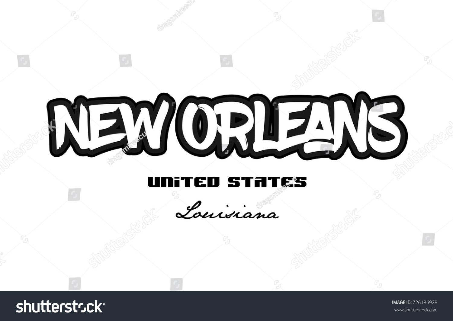 Typography design new orleans louisiana city stock vector 726186928 typography design of new orleans louisiana city text word in the united states of america graffitti buycottarizona Images
