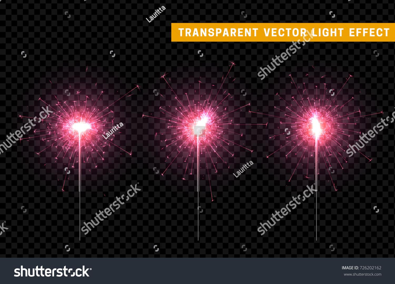 Festive Christmas sparkler decoration lighting element. Sparkler vector firework. Magic light isolated effect. & Festive Christmas Sparkler Decoration Lighting Element Stock ... azcodes.com