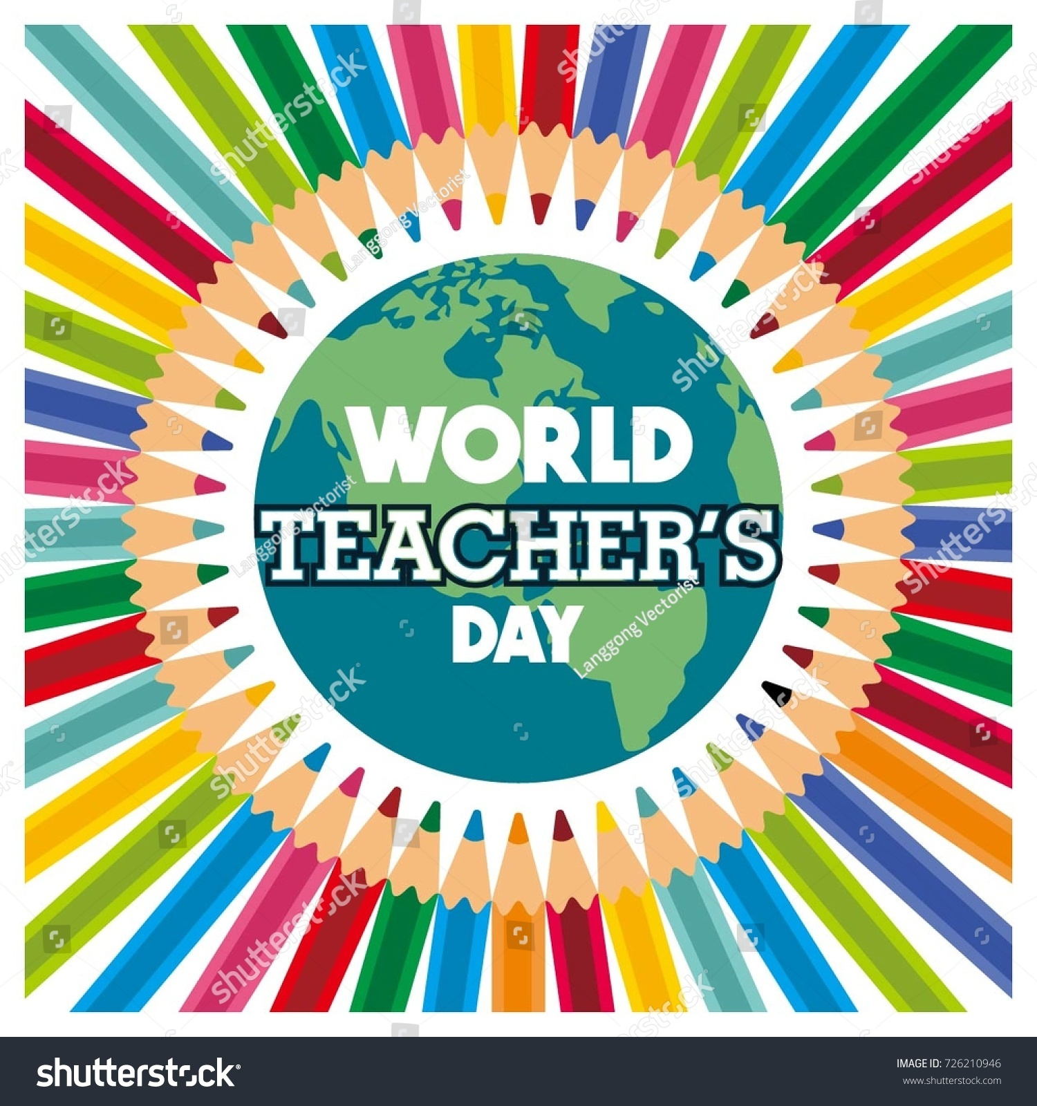 World international teachers day vector design stock vector world international teachers day vector design for social media posting profile photo meme kristyandbryce Images