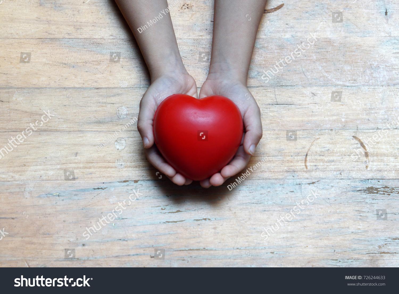 Boy Hand Holding Love Shape Heart Stock Photo 726244633 - Shutterstock