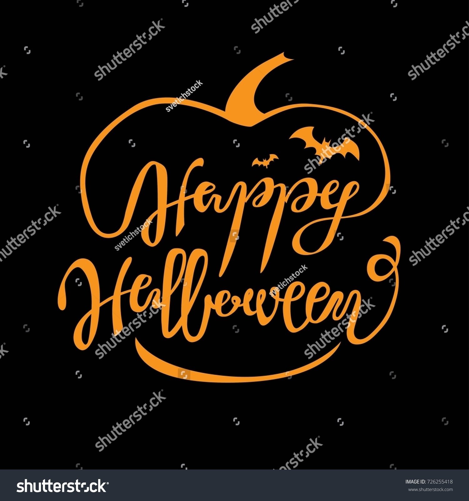 Happy halloween greeting card lettering cards stock vector happy halloween greeting card lettering for cards or posters kristyandbryce Images