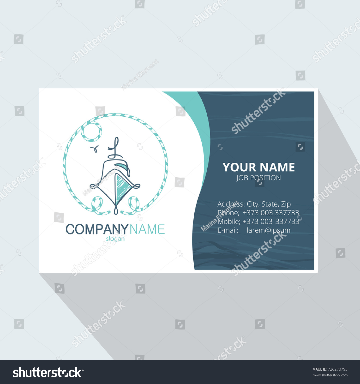 Marine Abstract Logo Design Corporate Business Stock Vector (2018 ...