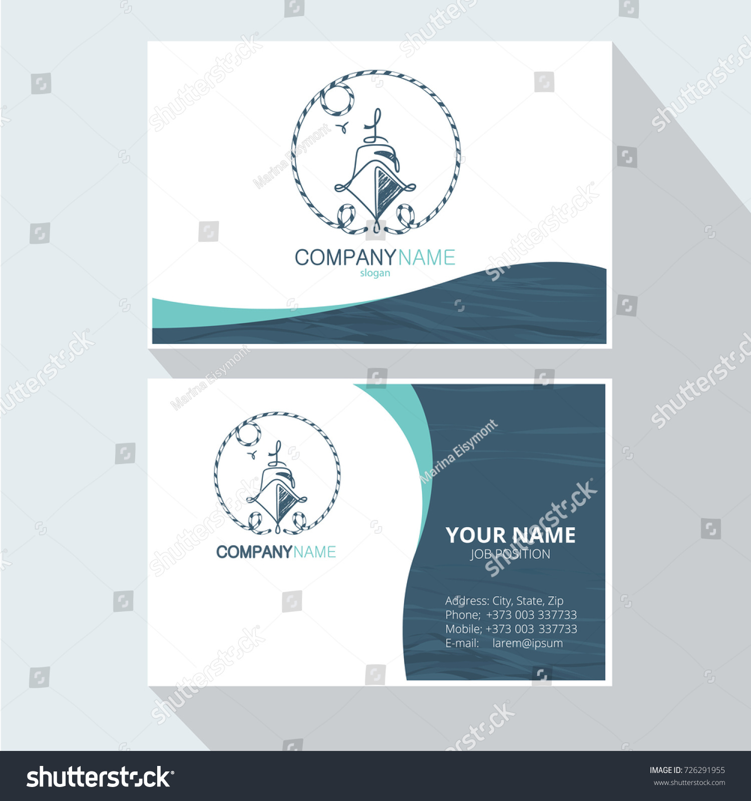 Marine abstract logo design corporate business stock vector marine abstract logo design corporate business card yacht vector logo design element for design magicingreecefo Gallery