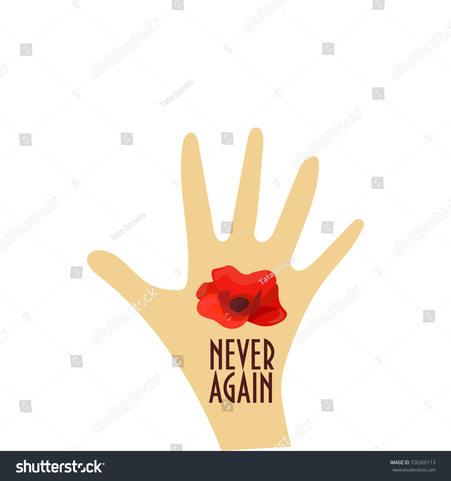 vector illustration remembrance day known poppy stock vector