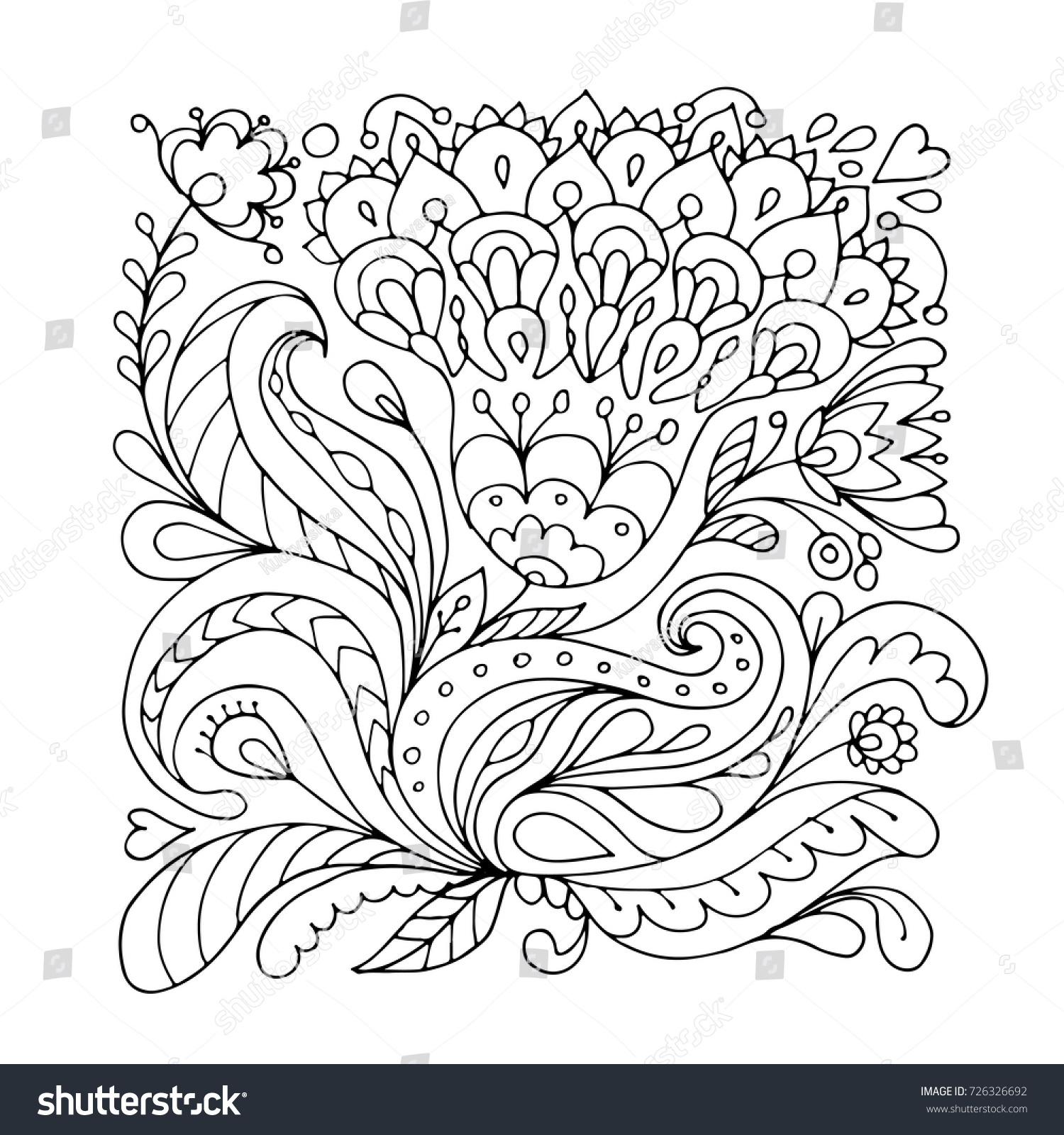 floral ornament sketch your design stock vector royalty free