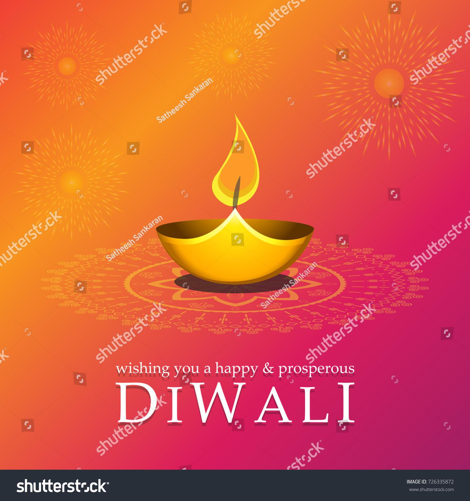 Vector Illustration Or Greeting Card For Diwali Ez Canvas