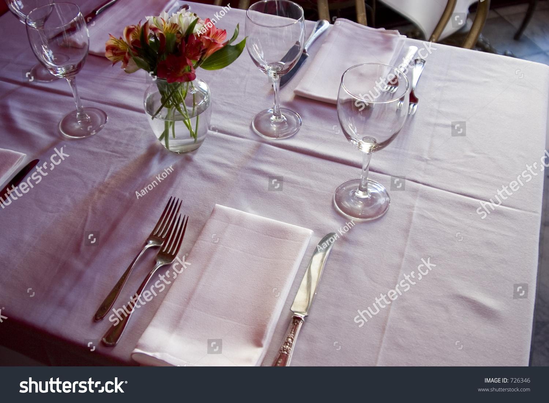 Nice Semiformal Table Setting Stock Photo 726346