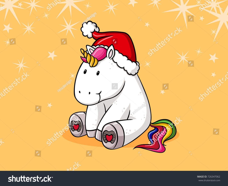 cute christmas comic unicorn - Christmas Unicorn