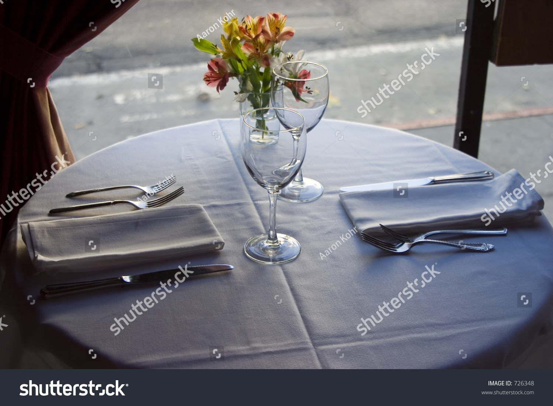 A Nice Semi Formal Table Setting Stock Photo 726348
