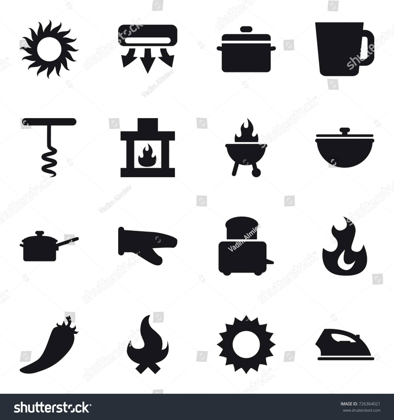 16 vector icon set sun air stock vector 726364021 shutterstock
