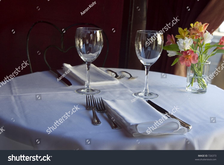 Nice Semiformal Table Setting Stock Photo 726373