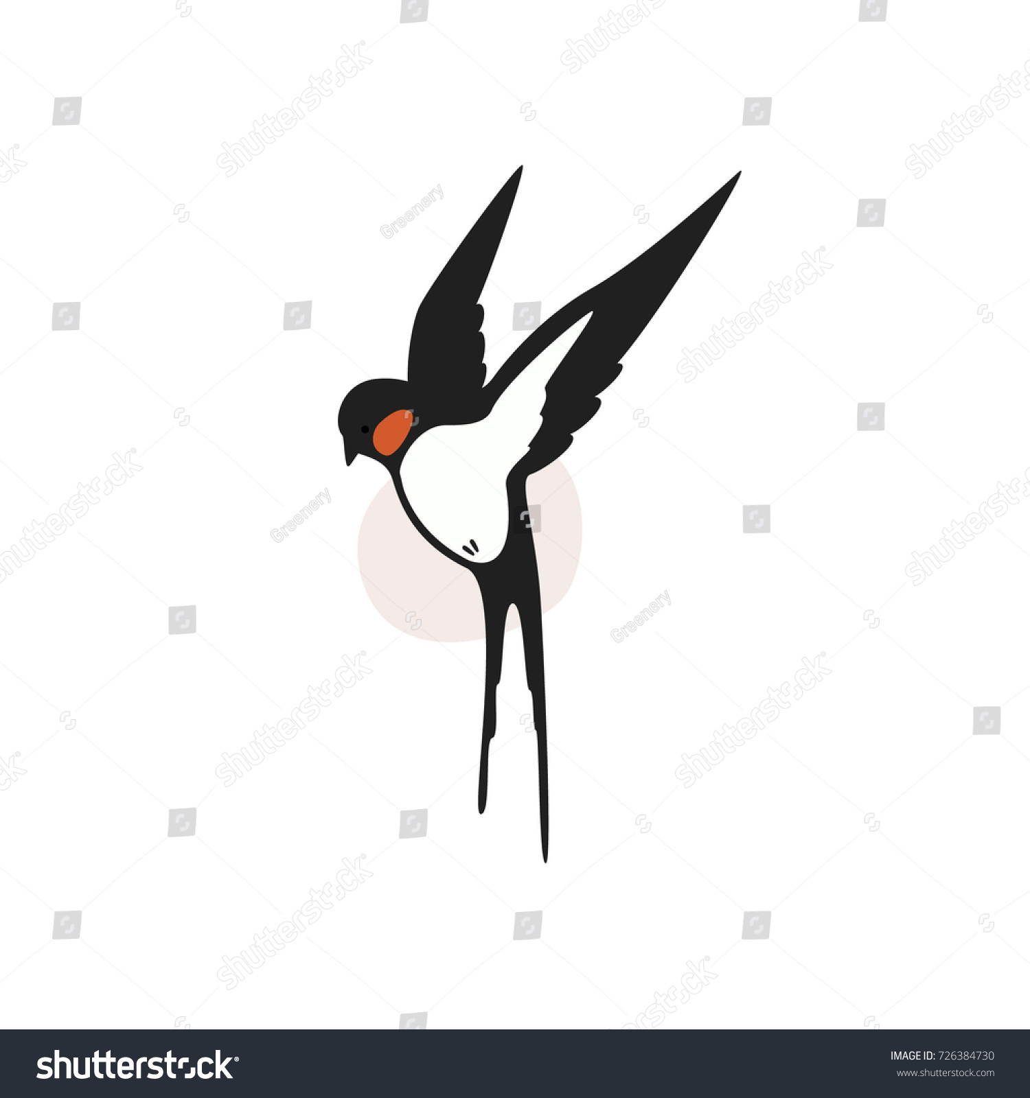 Vector Logo Swallow Stock 726384730