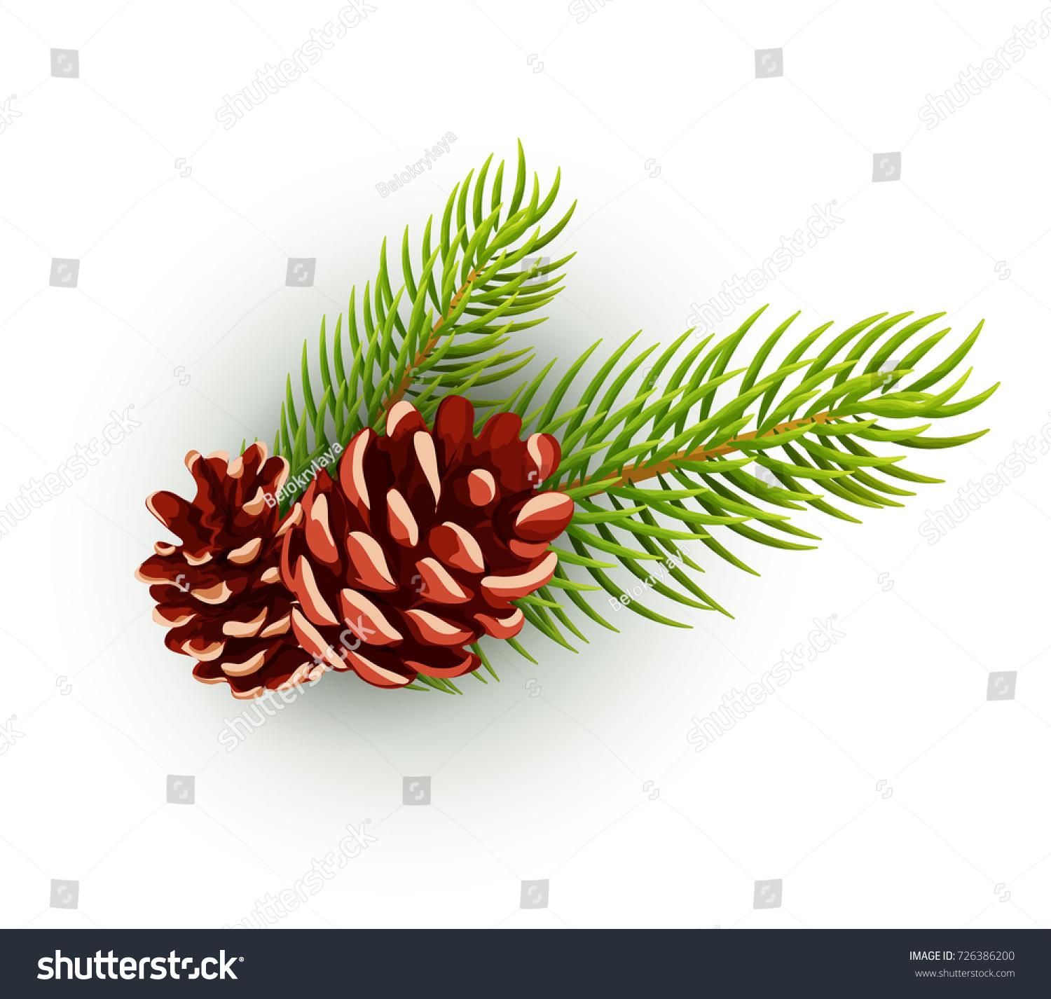 Christmas new year holiday symbols christmas stock vector christmas new year holiday symbols christmas card mock up design pine cone with spruce biocorpaavc Image collections