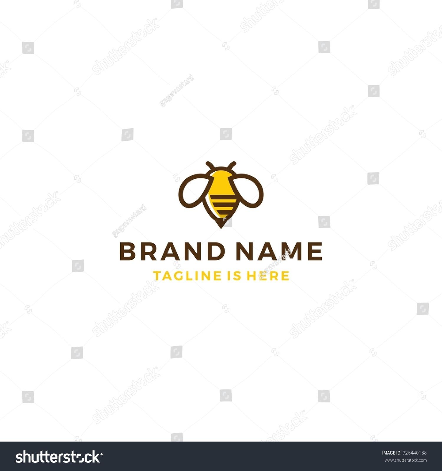 Bumble bee honey hive logo template stock vector 726440188 bumble bee honey hive logo template vector illustration biocorpaavc