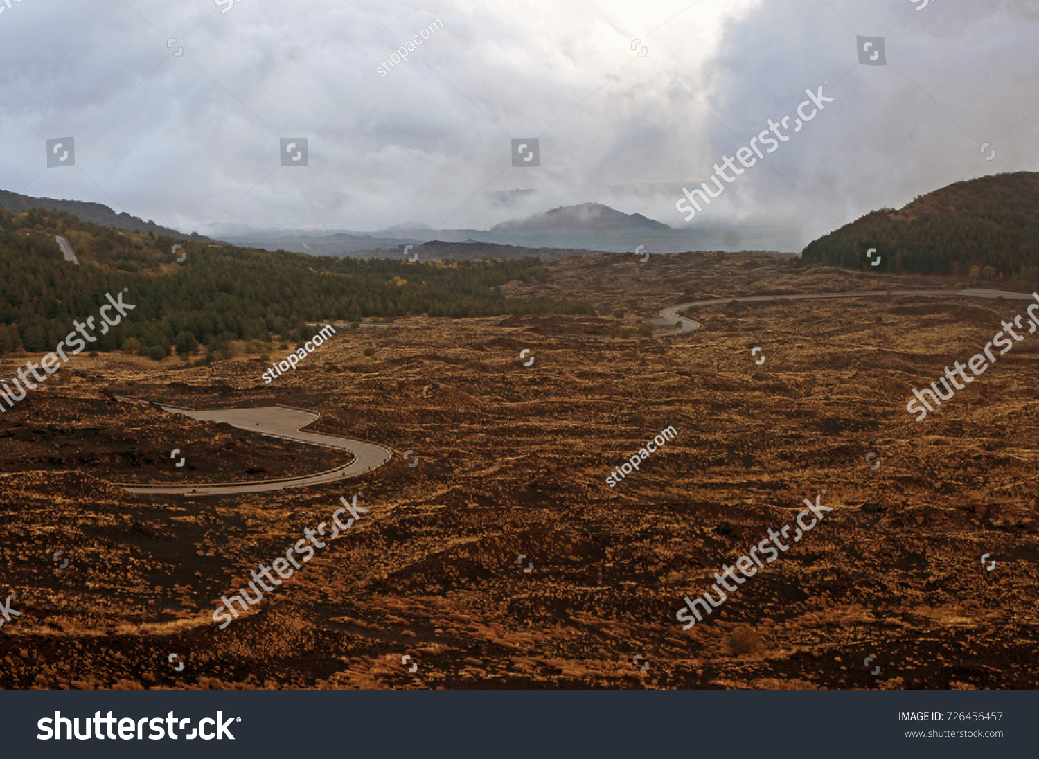 Road Leading Mount Etna Cable Car Stock Photo 726456457 Shutterstock