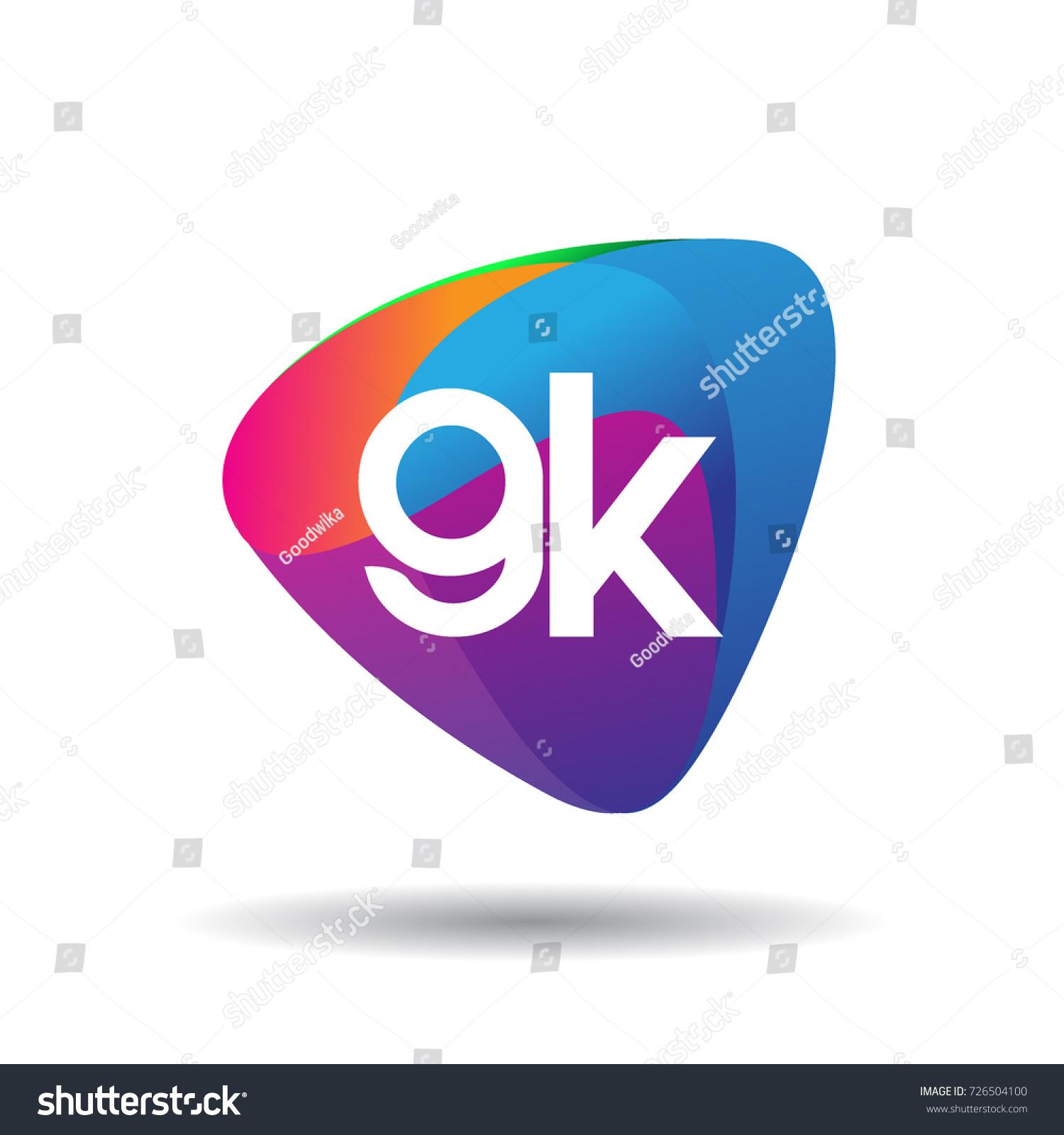 letter gk logo colorful splash background stock vector 2018 rh shutterstock com gk graphic design