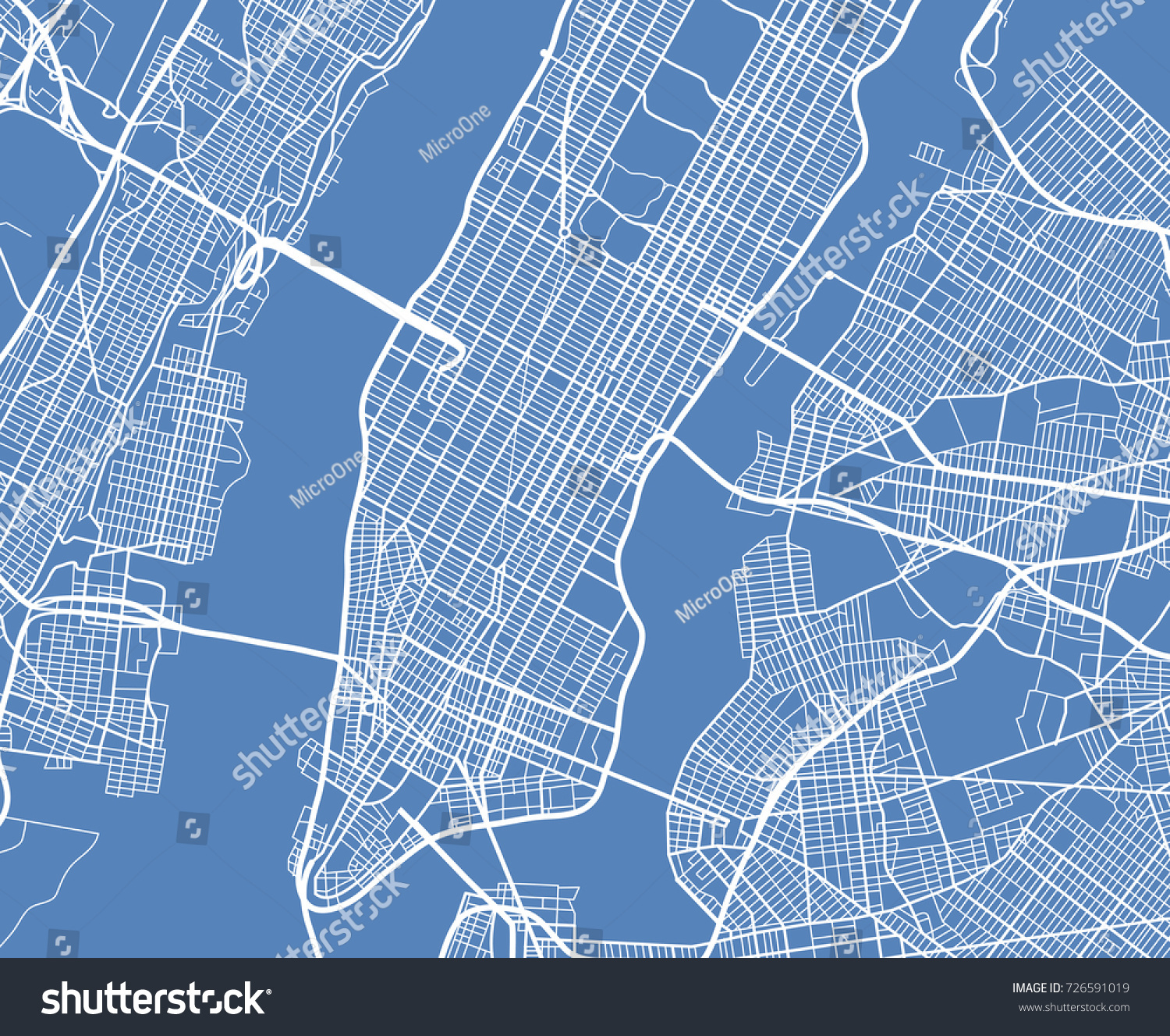 Aerial View Usa New York City Stock Vector Royalty Free 726591019