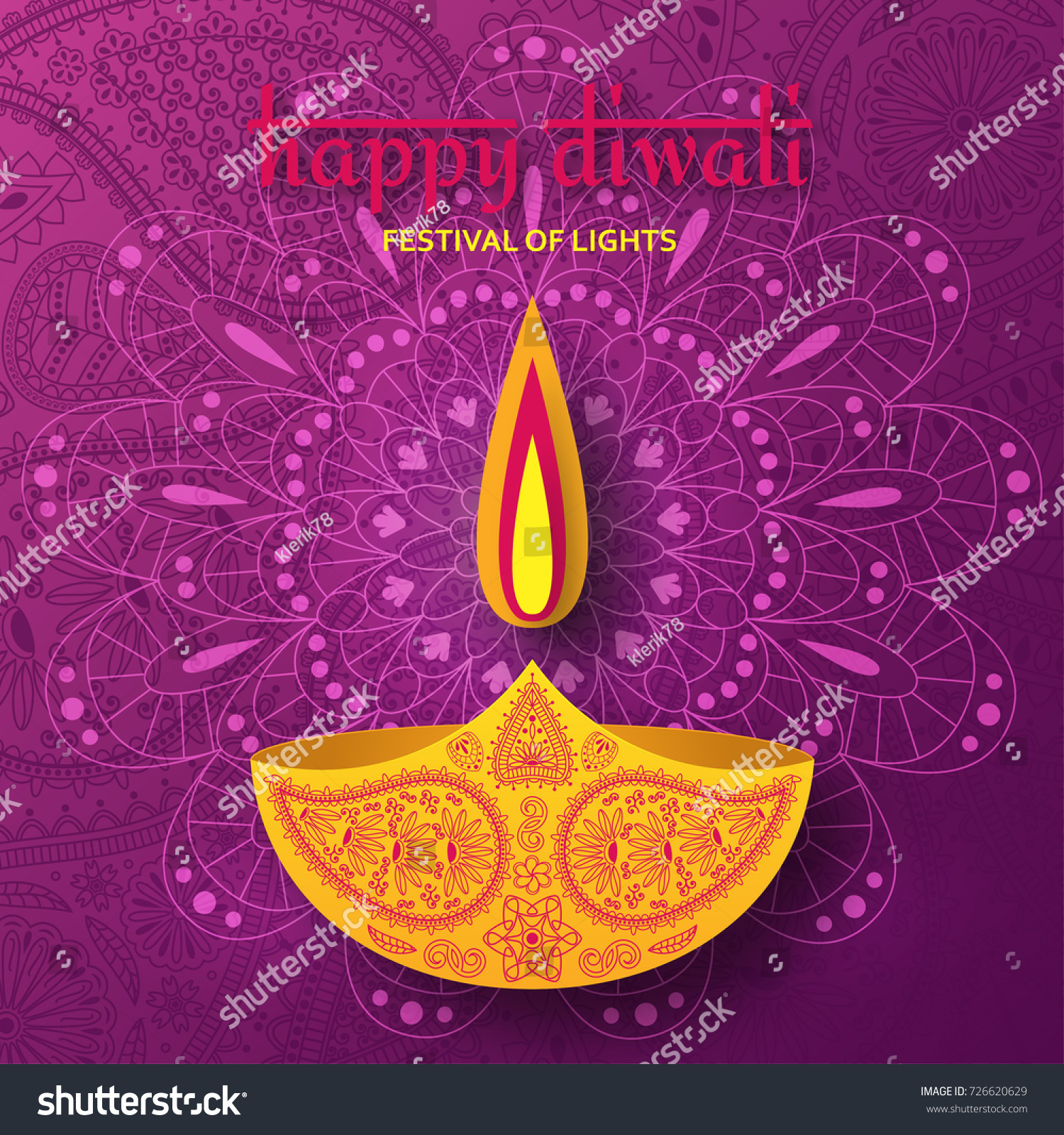 Happy Diwali With Ornament Of Rangoli Creative Diwali Festival