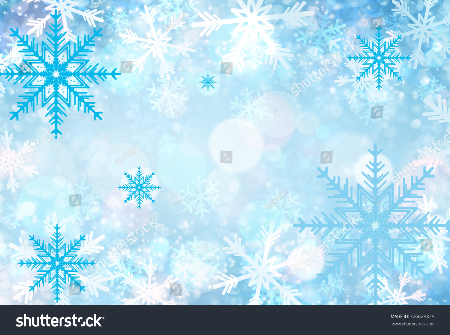 christmas and happy new year card winter background awesome snowflakes texture backdrop