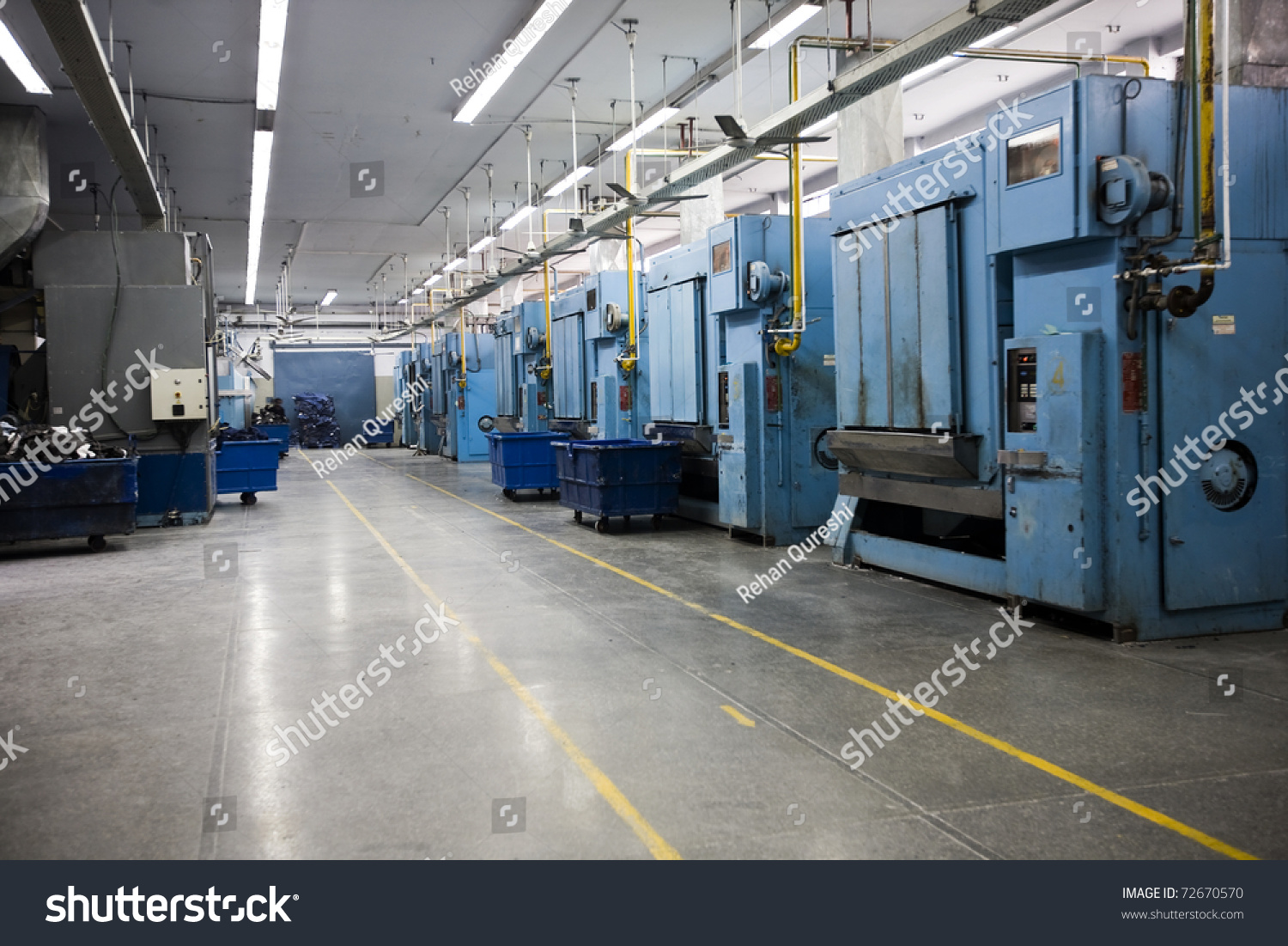 Laundry Machines At A Factory For Washing The Garments In ...