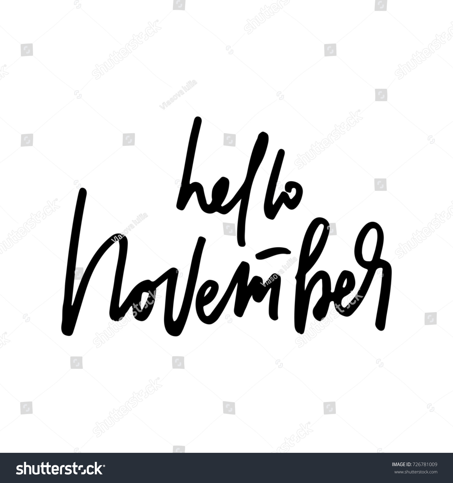November Life Style Inspiration Quotes Lettering Stock