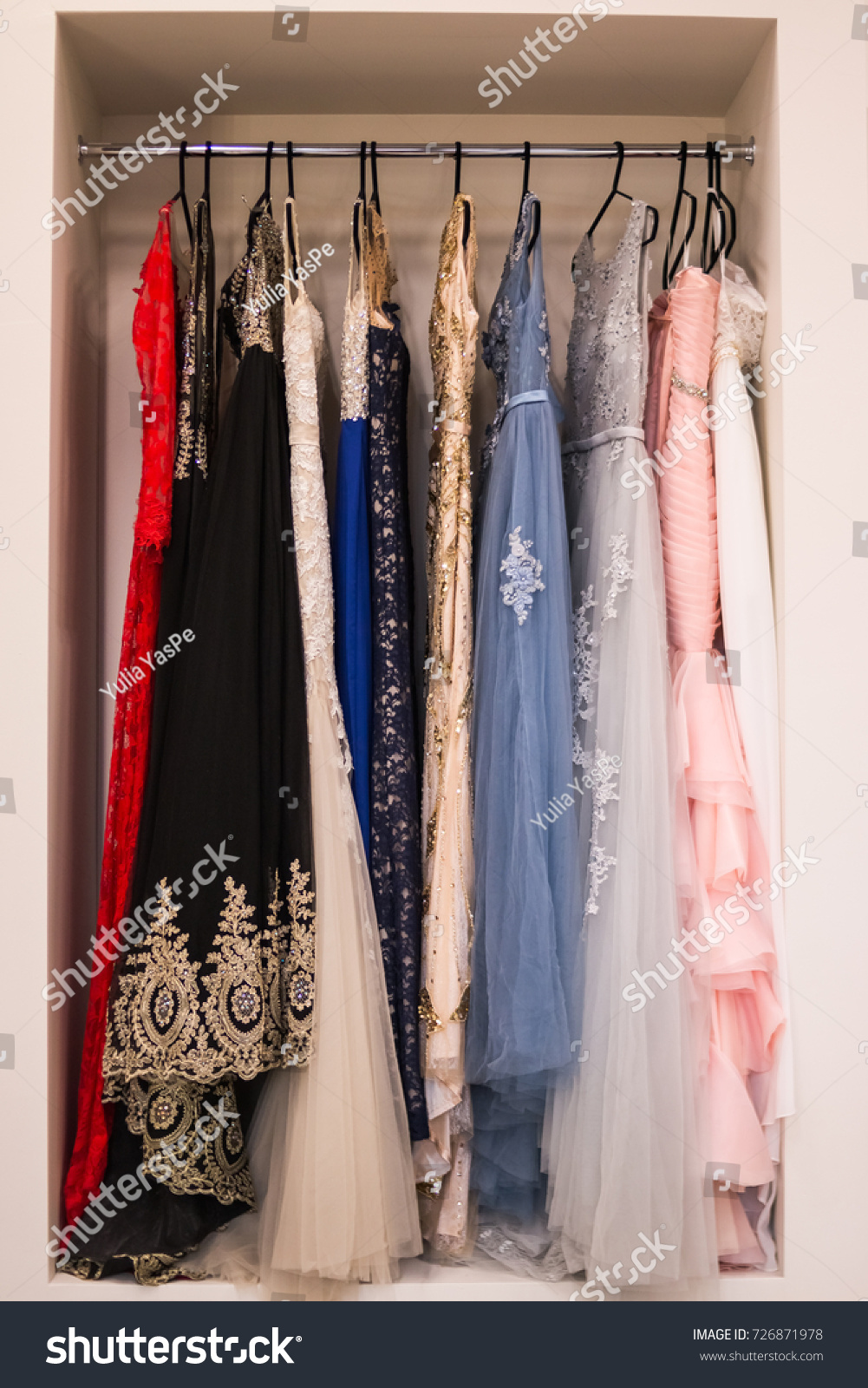 Many Ladies Evening Gown Long Dresses Stock Photo (Edit Now