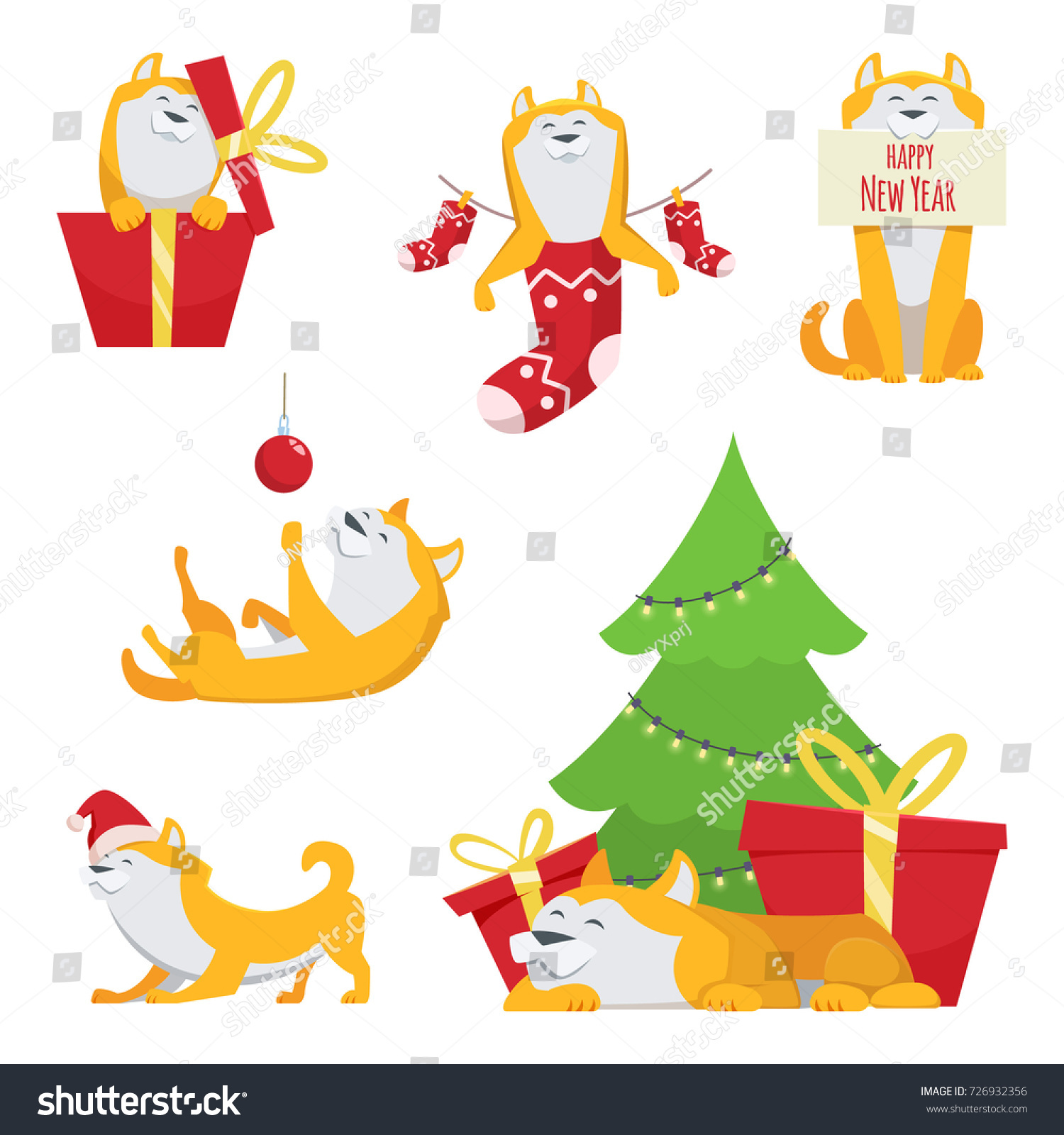 Character Design Cartoon Style Yellow Dog Stock Vector (Royalty Free ...