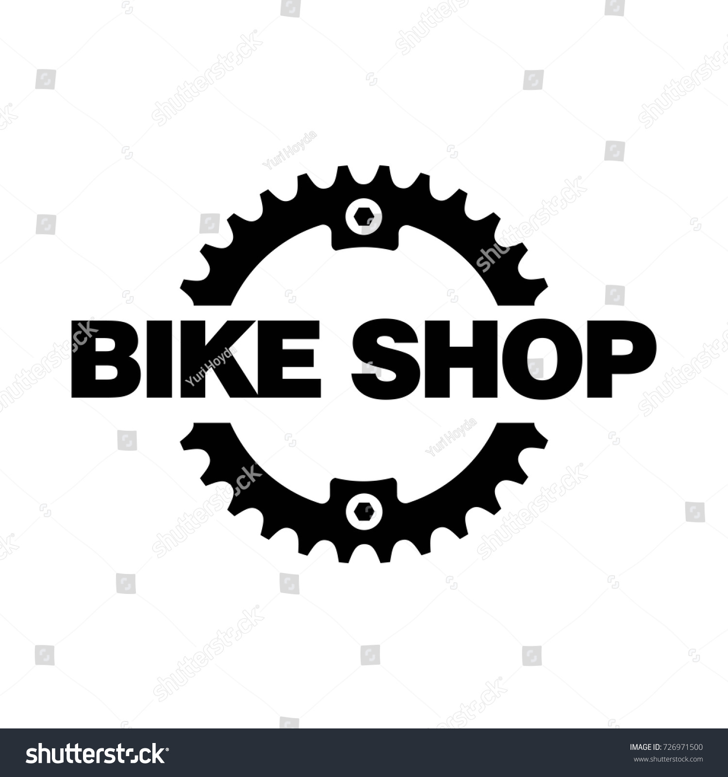 Bike Shop Logo Designchain Ring Stock Vector 726971500 Shutterstock