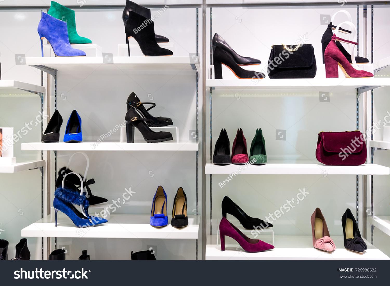 2bb3a238a2e Showcase Fashion Store Bags Shoes Stock Photo (Edit Now) 726980632 ...