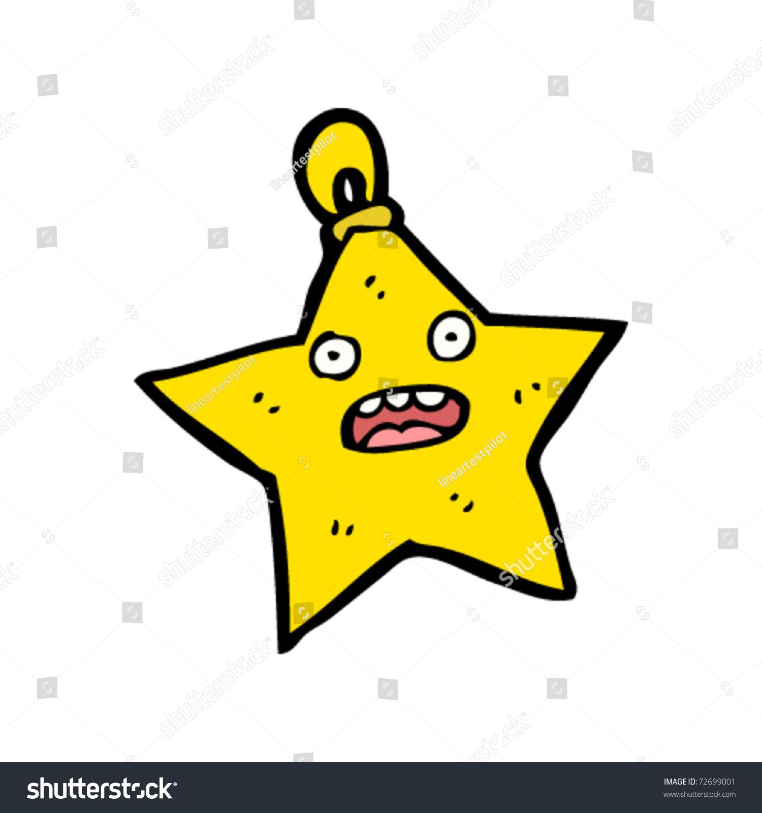 Christmas star decoration cartoon stock vector