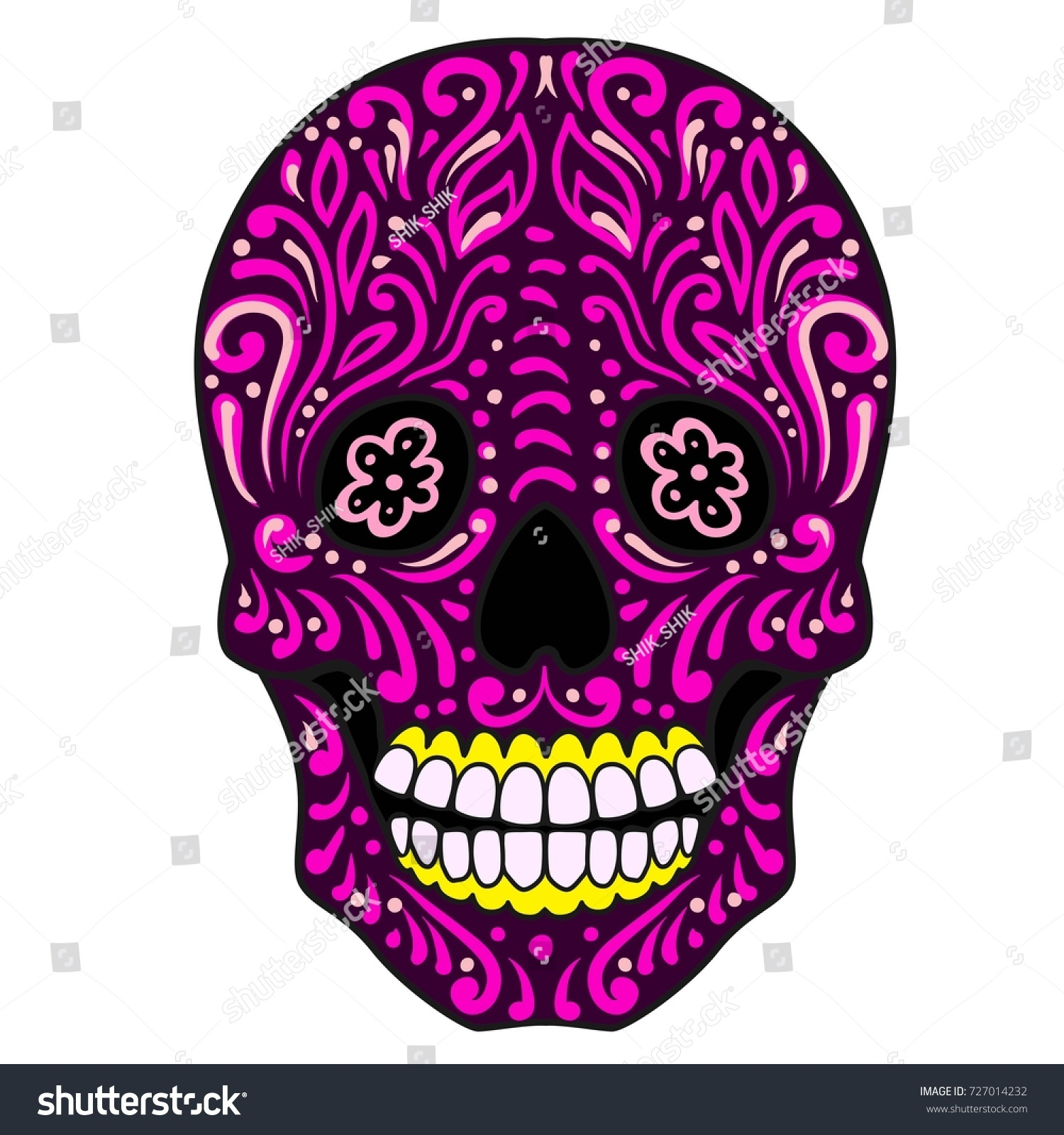 Ornate Sugar Skulllavera Is The Mexican National Symbol Of The