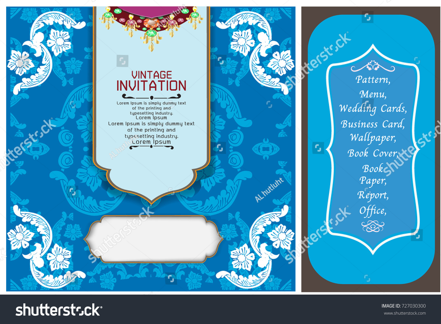 Wedding Invite Card Stock: Wedding Invitation Card Vintage Design Elements Stock