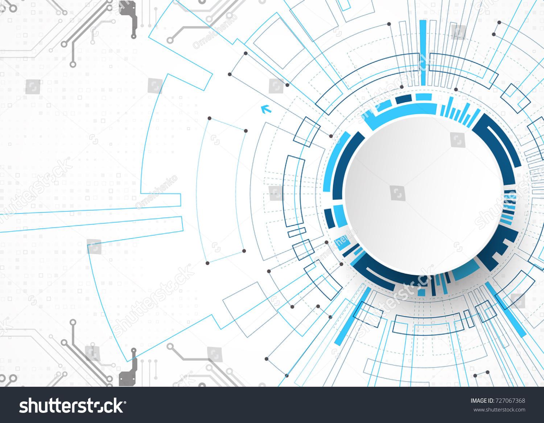 vector illustration hitech digital technology engineering stock
