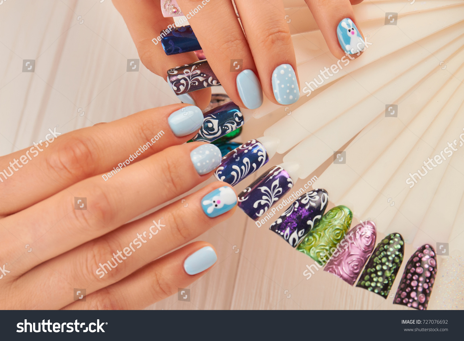 Beautiful Manicure Nail Art Samples Female Stock Photo (Royalty Free ...